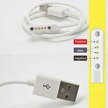 4Pin магнитные часы Зарядное устройство зарядный кабель для передачи данных для KW18/KW88/K88H/GT88 зарядный кабель USB 2,0 мужчина к 4 Pin Магнитный Зарядное устройство кабель