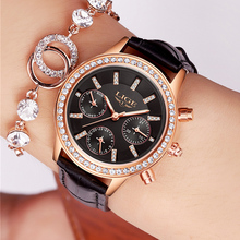 hot deal buy  women watches lige luxury brand girl quartz watch casual leather ladies dress watches women clock relogio feminino montre femme