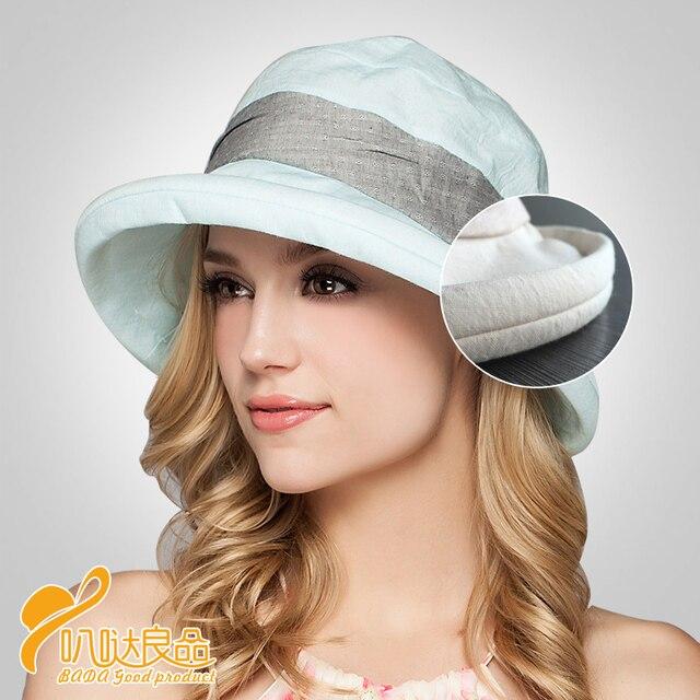 2016 New Lady Sun Cap Beach Hats Sombreros Women Summer Hat Spring and summer women hats UV protection sun hat foldable  B-2291