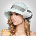 2016 Nueva Señora Casquillo de Sun Beach Sombreros Sombreros de Las Mujeres Sombrero de Verano la primavera y el verano de las mujeres sombreros de sun protección UV sombrero plegable B-2291