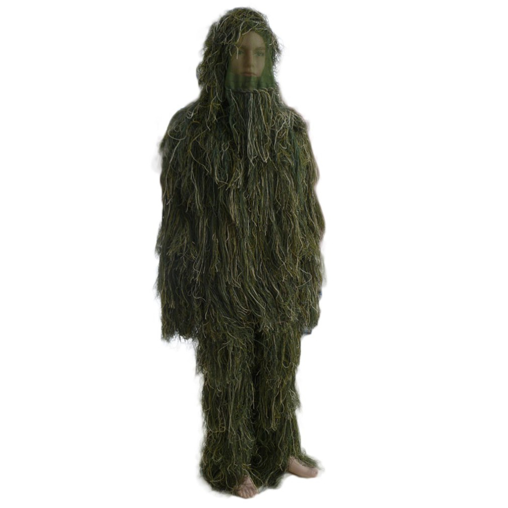 Forest Design Camouflage Ghillie Suit grass type hunting clothing yowie Sniper 3D bionic camouflage suit free shipping outdoor hunting ghillie suit 3d bionic army airsoft uniform sniper hunting clothes camouflage ghillie suit clothing for hunting