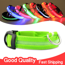 Nylon Pet LED Dog Collar Night Safety LED Flashing Glow LED Pet Supplies Dog Cat Collar Small Dogs Collars