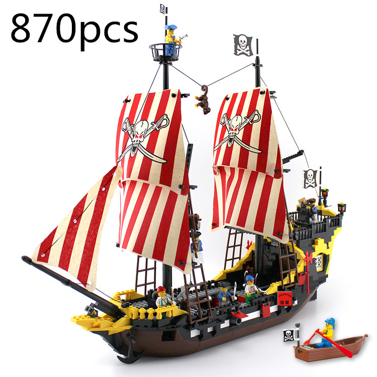 ФОТО AIBOULLY 2017 New 308 Pirates Series Black Pearl Building Block Sets Educational DIY Construction bricks baby toys Bringuedos