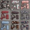 2016 Venta Nuevos Lazos Hombres Corbata Bowtie Pañuelo Conjuntos de Algodón de Impresión Ocasional Visita de La Boda Corbata Y Pañuelo de Bolsillo Cuadrado Arco