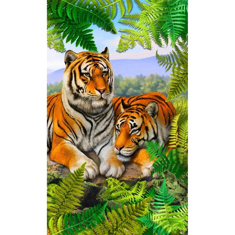 New Embroidery Handic Raft Diamonds Tiger Animal Vertical Print Diamond Embroidery Diamond Painting Mosaic Picture E628