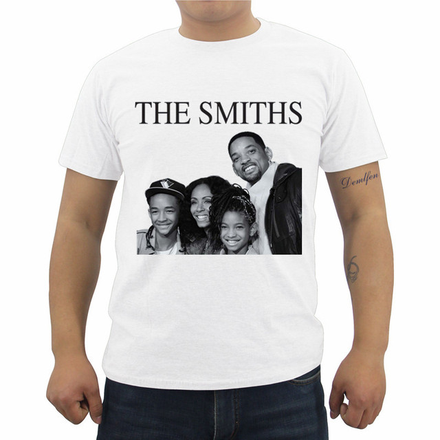 9a945b3da6a2 The Smiths Print T-shirt Will Smith Family Music Hipster T Shirts Summer  Men's Casual Brand Clothing Male Cotton Tees Tops