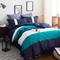 Double Side Use 2016 Autumn Bedding Set Brief Style Bed Linens 5 Size Zebra Stripe Bed