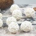20 unids/lote 3 cm bebé ducha rota bola decoración de Año Nuevo de mimbre de ratán de bolas fiesta decoración DIY Sepak Takraw bolas