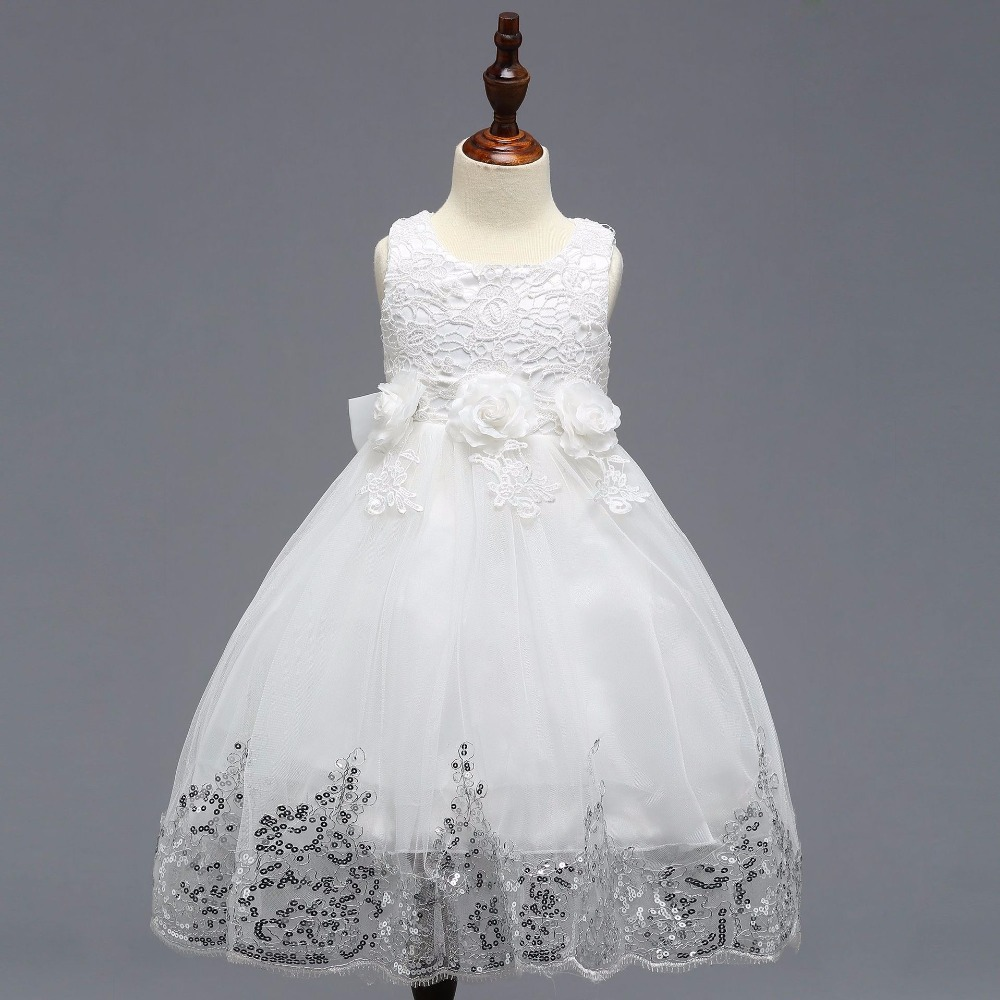 Girls   2019 Hot Sale Cheap   Flower     Girl     Dresses   Muliti Color with Shinny Sequined Communication   Dress   For Wedding Party