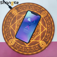 Wireless Charger Magic Array Universal 10W Qi Wireless Fast Charger Light pad For iPhone X 8 XS XR Samsung S9 S8 Plus charger