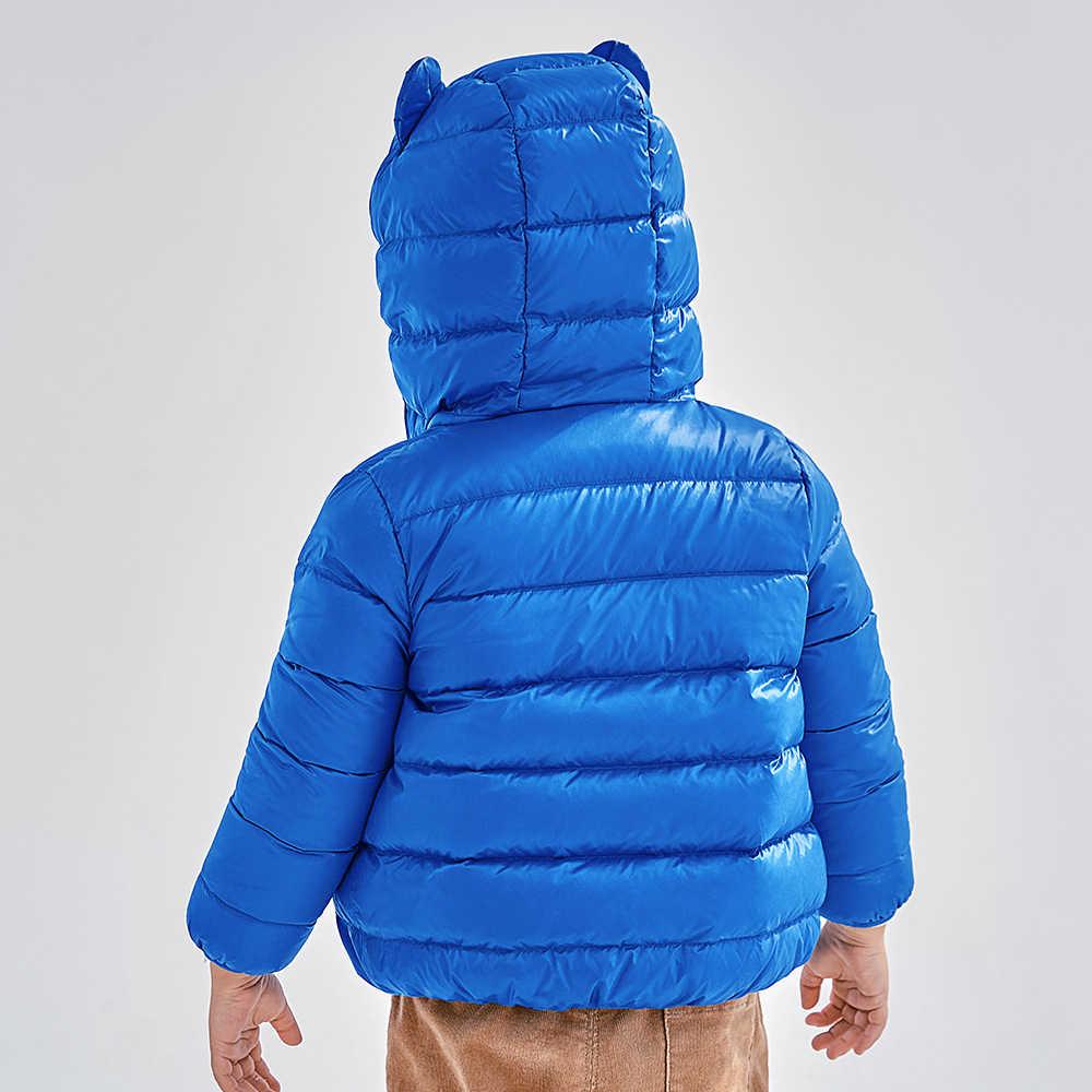 מיני Balabala ילדים קריטר המשאף מעיל ילדי בני בנות חורף Packable קל משקל למטה מעיל ברדס מעיל להאריך ימים יותר בגדים