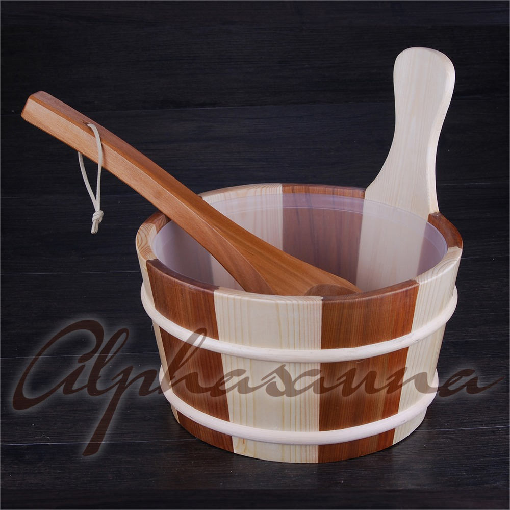 Free shipping 4L Sauna Bucket and ladle Red Cedar& Pine with removal PE line Factory Sauna accessories, Wholesaler, Sauna DealerFree shipping 4L Sauna Bucket and ladle Red Cedar& Pine with removal PE line Factory Sauna accessories, Wholesaler, Sauna Dealer