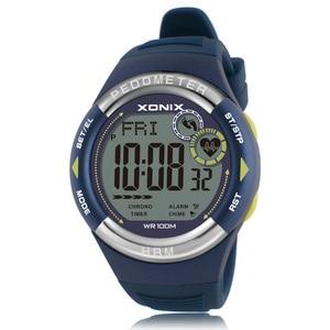 Image 4 - חם!! מד צעדים קצב לב צג קלוריות BMI גברים ספורט שעונים עמיד למים 100m נשים דיגיטלי שעון ריצה צלילה שעוני יד