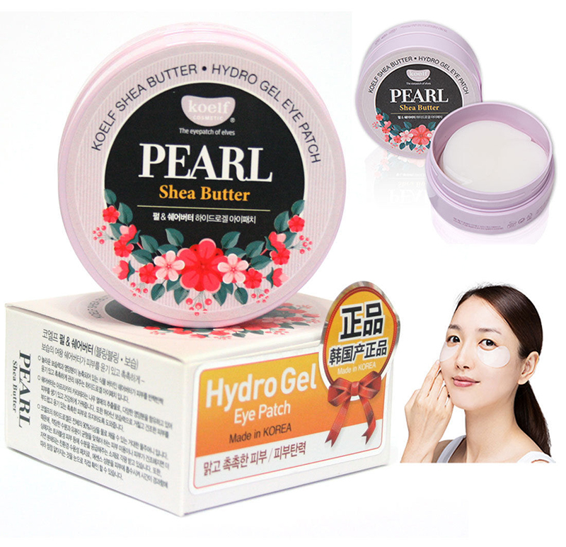 Image 3 - Korea Cosmetics KOELF Pearl & Shea Butter Eye Mask Patch 60pcs Bling bling Skin Eye Mask Ageless Dark Circles PETITFEE Sub brand-in Creams from Beauty & Health