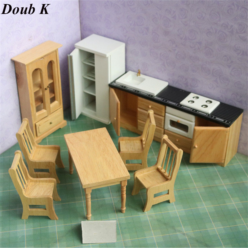 Doub K 1:12 kawaii Wooden Dollhouse Furniture toy simulation Miniature table set stove dolls house pretend play toys for girls cutebee pretend play furniture toys wooden dollhouse furniture miniature toy set doll house toys for children kids toy