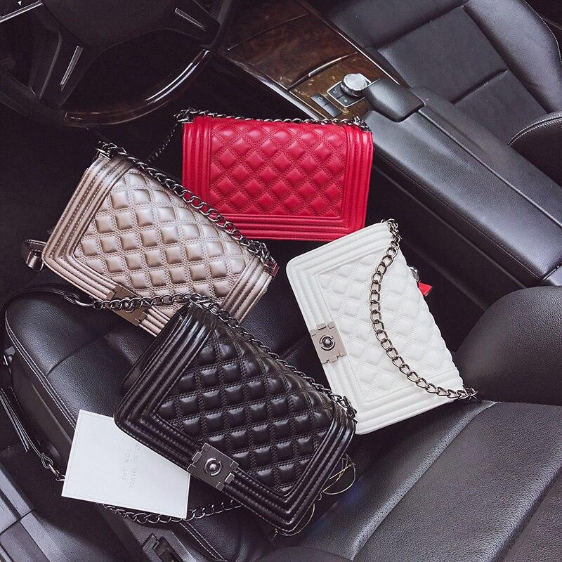 2018 Роскошные Сумки Для женщин сумки модельер бренда цепи Вечерний Клатч женский Посланник Crossbody сумки Каналы Для женщин