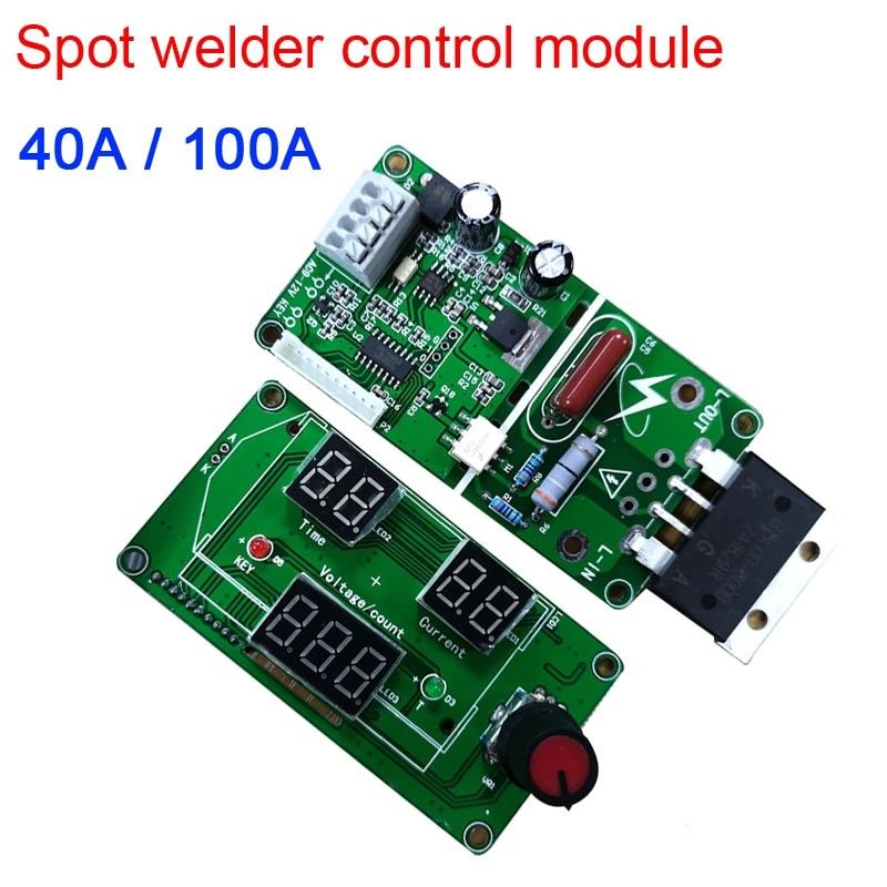 100A / 40A Digital LED single Pulse Encoder Spot Welder Welding Machine Transformer Controller Board Time Control 100A / 40A Digital LED single Pulse Encoder Spot Welder Welding Machine Transformer Controller Board Time Control