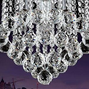Image 5 - Хрустальный потолочный светильник для гостиной, круглый светодиодный светильник для украшения дома