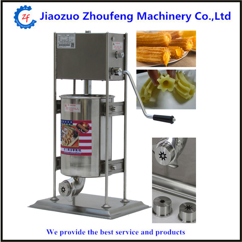 Churros machine manual churro maker spanish fried dough sticks 5L churros fast food leisure fast food equipment stainless steel gas fryer 3l spanish churro maker machine