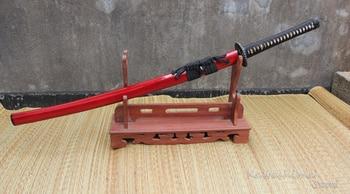 Grade A Japanese Katana Sword Soshu Kitae Damascus Forged Steel Folding 2400 Layrers Clay Tempered Sharpness Ready for Battle 2