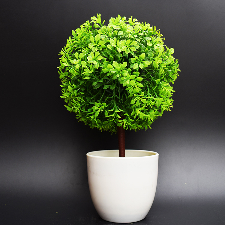 Artificial plants potted bonsai tree ball fake tree for Artificial plants for decoration