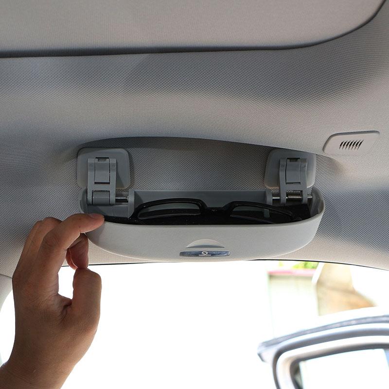 Car Sunglasses Case Holder Glasses Cage Clip Storage Box For Jeep Compass 2017 2018 Accessories
