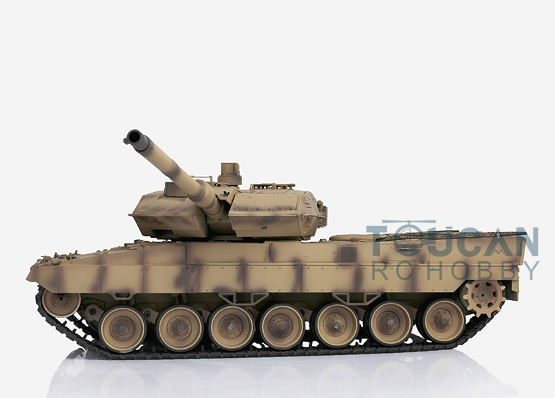 HengLong 1/16 Scale Desert Yellow German Leopard2A6 RTR RC Tank Plastic Tracks Wheels 3889 2 4ghz 1 16 scale henglong deep green german leopard2a6 rc rtr tank model metal tracks wheels 360 degrees rotation turret 3889