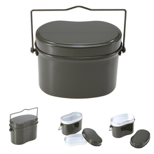 Outdoor Pot Bowl Tableware Survival Bento Germany Military Green Lunch Box Picnic Accessories Hiking Camping Climbing Case