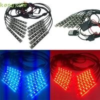 High Quality 1 Set 12PCS RGB LED Car Motorcycle Chopper Frame Flexible Neon Strips Kit