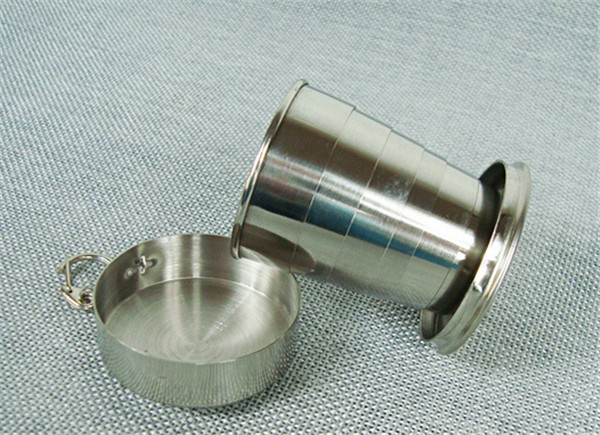 300 pcs Stainless Steel Portable Outdoor Travel Camping Folding Collapsible Cup