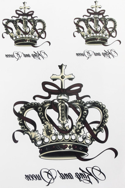 Big Crown 21 X 15 CM Sized Sexy Cool Beauty Tattoo Waterproof Hot Temporary Tattoo Stickers