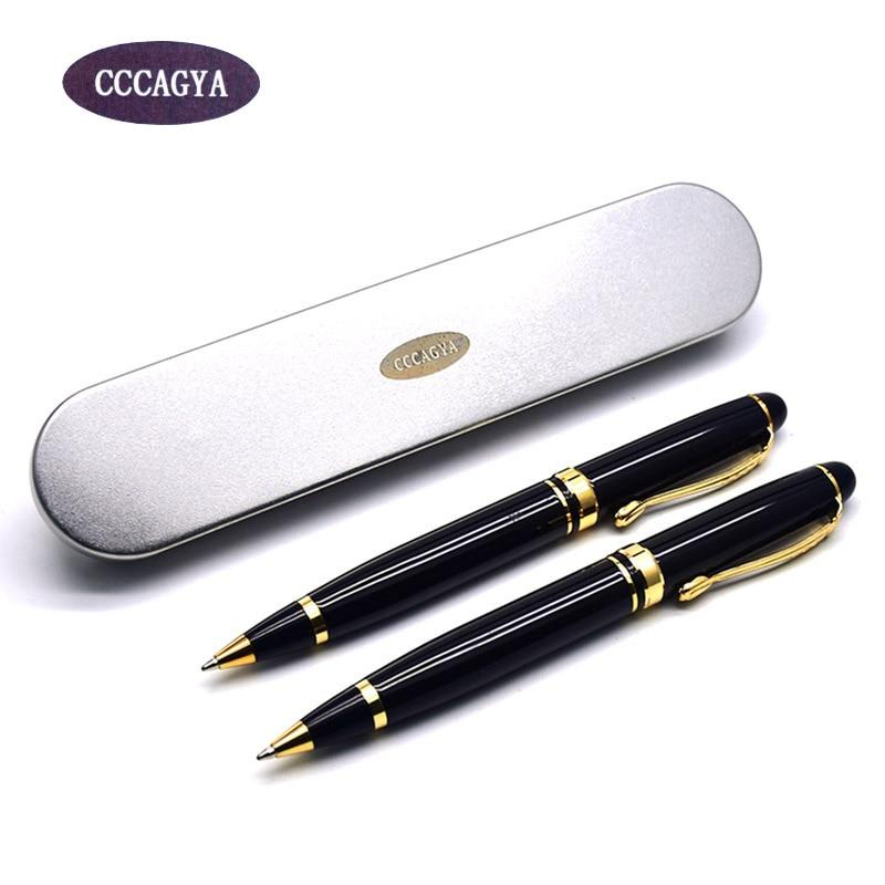 CCCAGYA A98 สองสีโลหะของขวัญ 424 G2 ปากกาลูกลื่นเรียนรู้สำนักงานเครื่องเขียนของขวัญปากกาหรูและโรงแรมธุรกิจปากกาเขียน
