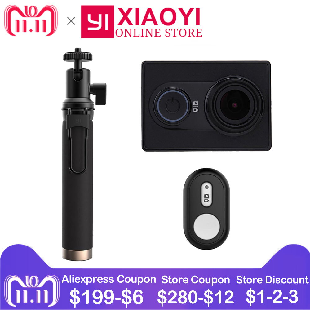 цена на Xiaomi YI Action Camera 1080P Xiaoyi Mini Sports Camera 3D Noise Reduction 16MP 60FPS WiFi and Bluetooth International Edition