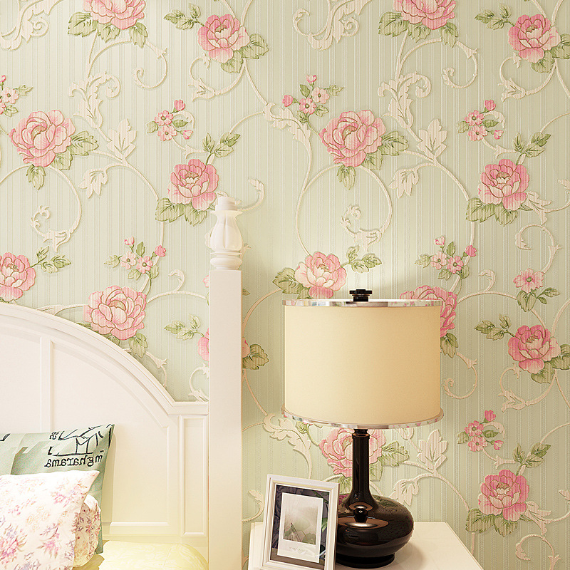 beibehang Romantic garden flowers Wall Paper Home Decor Background Damask wallpaper for walls 3d Wallcovering for Living Room non woven bubble butterfly wallpaper design modern pastoral flock 3d circle wall paper for living room background walls 10m roll