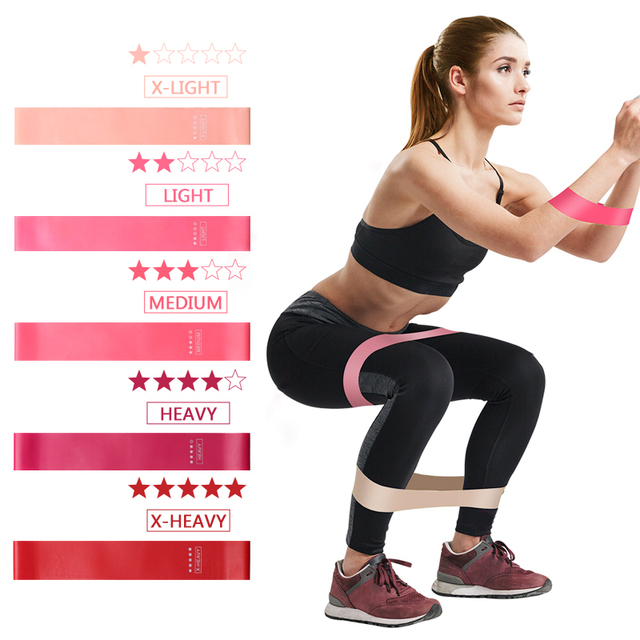 Resistance Bands Fitness Gum Set Exercise Sports Elastic Band For Fitness Pilates Strength Training Rubber Loop Expander LLQ01