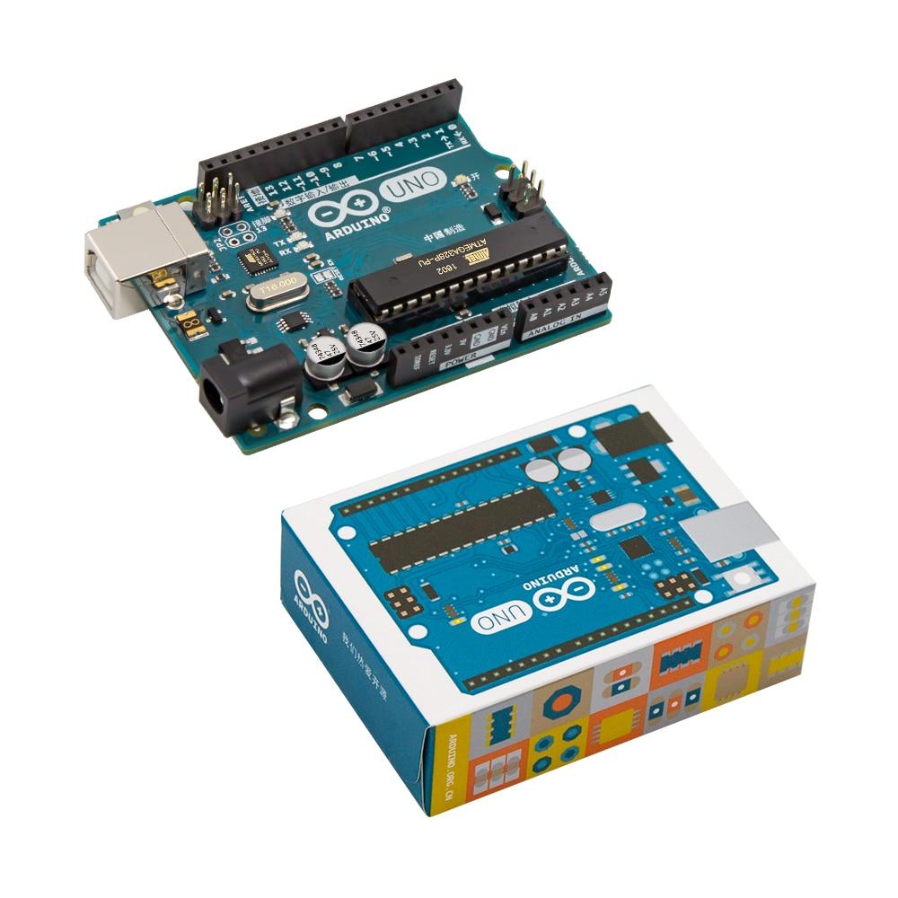 1 unids nuevo y original uno R3 ATMega328P Arduino Uno R3 ATMega328 genuino oficial con el cable envío libre