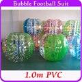 Открытые Спортивные Надувные Пузырь Футбол Людской Шарик 1.0 м ПВХ Бампер Тело Костюм, Loopy Пузырь Футбол Зорбе Мяч Для Продажи