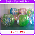 Deporte al aire libre de Fútbol Burbuja Inflable Bola de Hámster Humano 1.0 m PVC Parachoques Juego Del Cuerpo, Loopy Burbuja Fútbol Bola Del Zorb Para La Venta