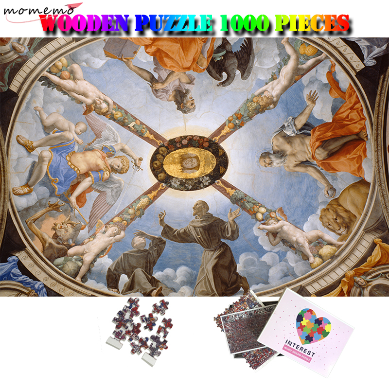 MOMEMO The Chapel Of Eleonora Of Toledo Jigsaw Puzzle 1000 Pcs Adults Wooden Puzzle 1000 Pieces Relax Brain Puzzle Games Toys