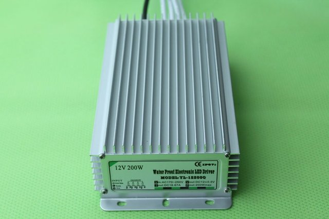 waterproof led power supply;AC90-250V input; 12V/200W output;IP68;CE and ROHS;