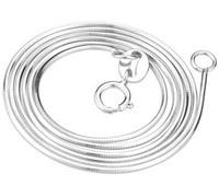 Lady Chokers Necklace Sterling Silver Rolo Chain 18 16 Flat Snake Chain Necklace Choker Genuine Silver