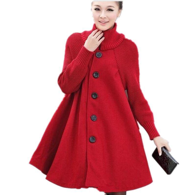 Popular Plus Size Cape Coat-Buy Cheap Plus Size Cape Coat lots ...