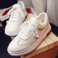 White Crossed Lace-up Casual Shoes For Women 2017 New Arrival Korean Style Fashion Leisure Comfortable All-match Ladies Footwear
