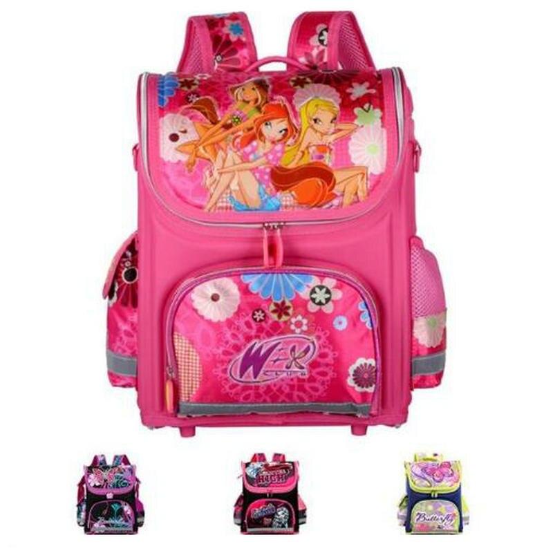 Orthopédiques Enfants Sacs D'école Pour Les Filles Nouveau 2018 Enfants Sac À Dos Monster High WINX Livre Sac Princesse Cartables Mochila Escolar