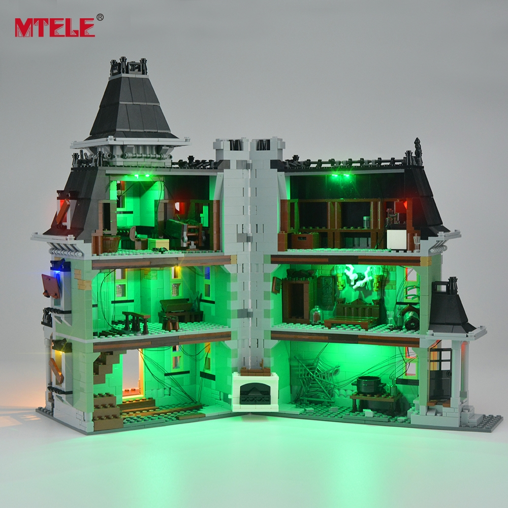 MTELE Brand LED Light Up Kit Untuk City Monster Fighter Haunted House - Mainan pembinaan - Foto 4