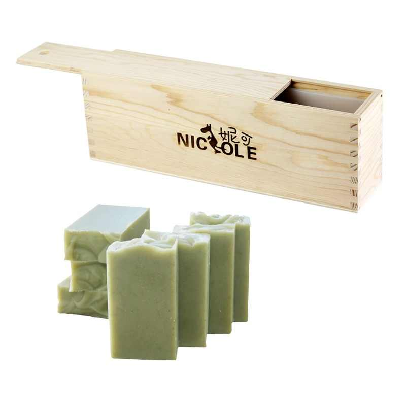 Nicole Silicone Soap Mold Tall and Thin Loaf Mould with Wooden Box for DIY Natural Handmade Tool