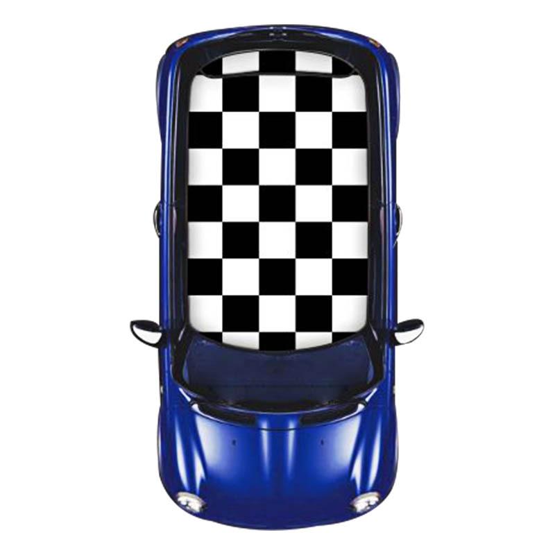 Damier voiture toit ouvrant Wrap toit Film vinyle bricolage KK autocollant stickers Protection décoration voiture style pour MINI Cooper R56 accessoires