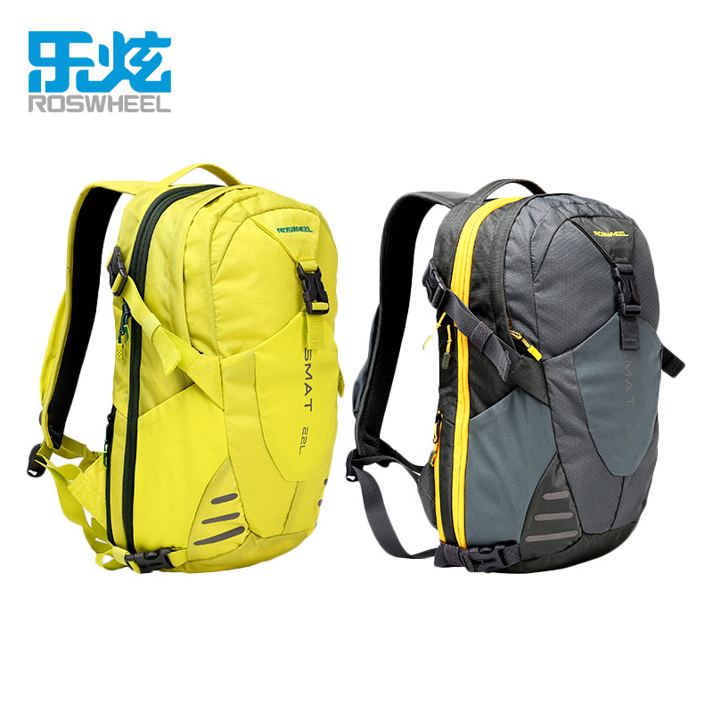 22L Nylon Sports Backpacks Teenage Girls Men's Laptop School Bag Large Outdoor Travel Backpack Waterproof Rucksack grey yellow  グループ上の スポーツ & エンターテイメント からの 登山バッグ の中 1