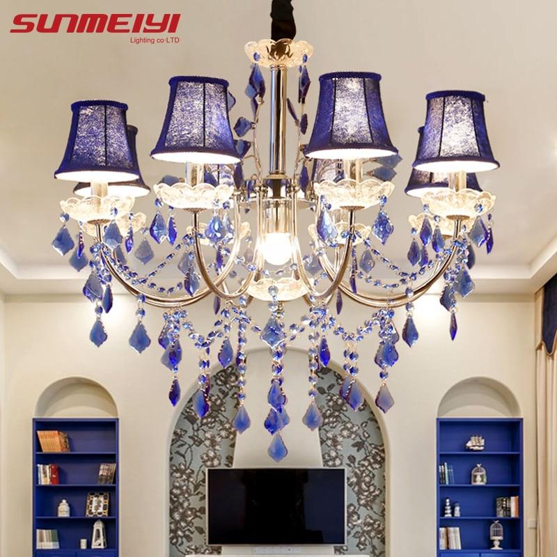 Sodobne luči iz lesa iz kristalne lestence Svetilke za lestenec za spalnico Dnevna soba Fixture Crystal Light Lustres de crista razsvetljava