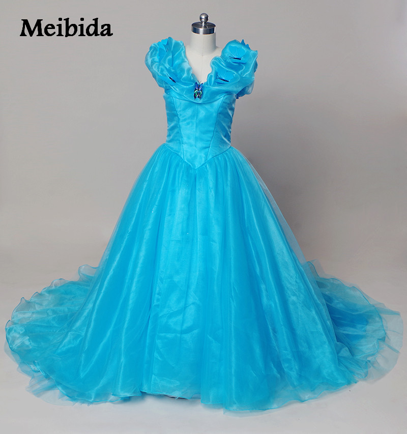 Hot dresses 15 years sky blue cinderella quinceanera dresses with butterfly puffy corset masquerade ball gown